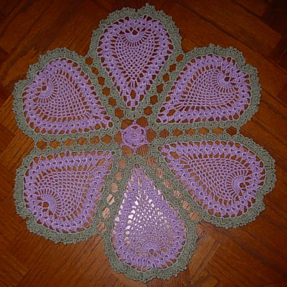 Free Crochet Pattern For Pineapple Doily With Matching Candleholder