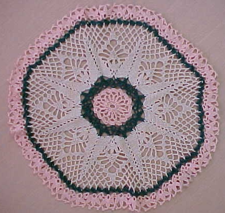 Cotton Rope Doily Rug Sunburst by TCTbaby on Etsy